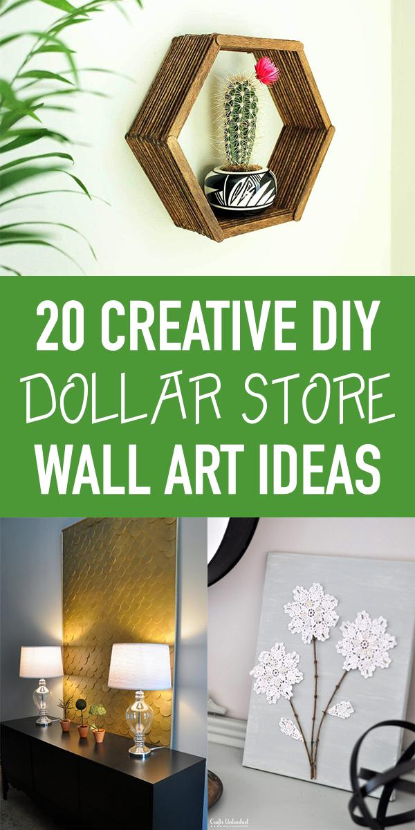 20 Creative DIY Dollar Store Wall Art Ideas