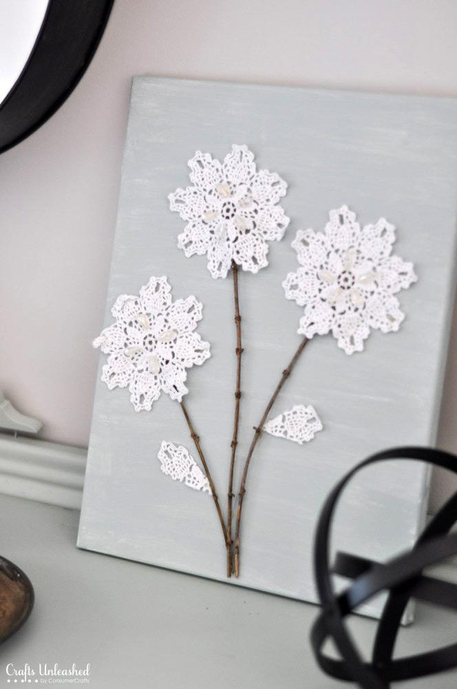 Doily Flower Art