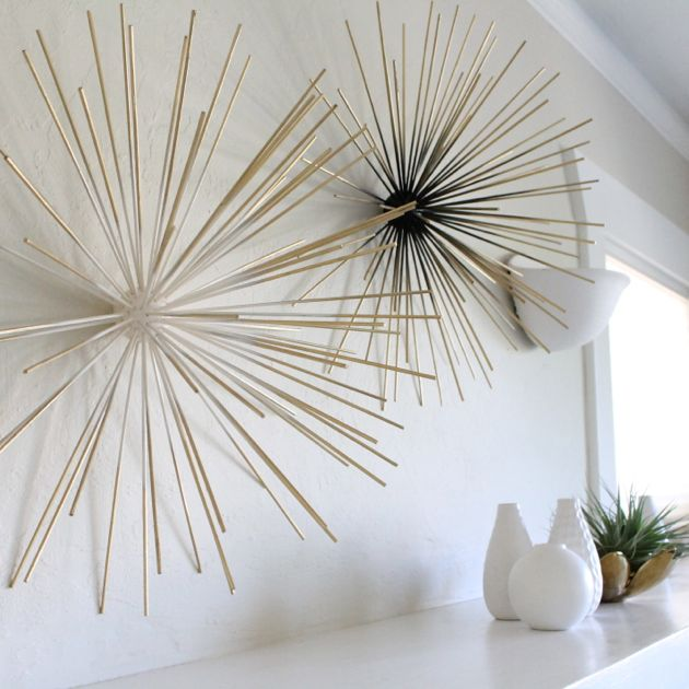 Wall Sculpture Using Bamboo Skewers