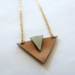 Plastic Geometric Necklace
