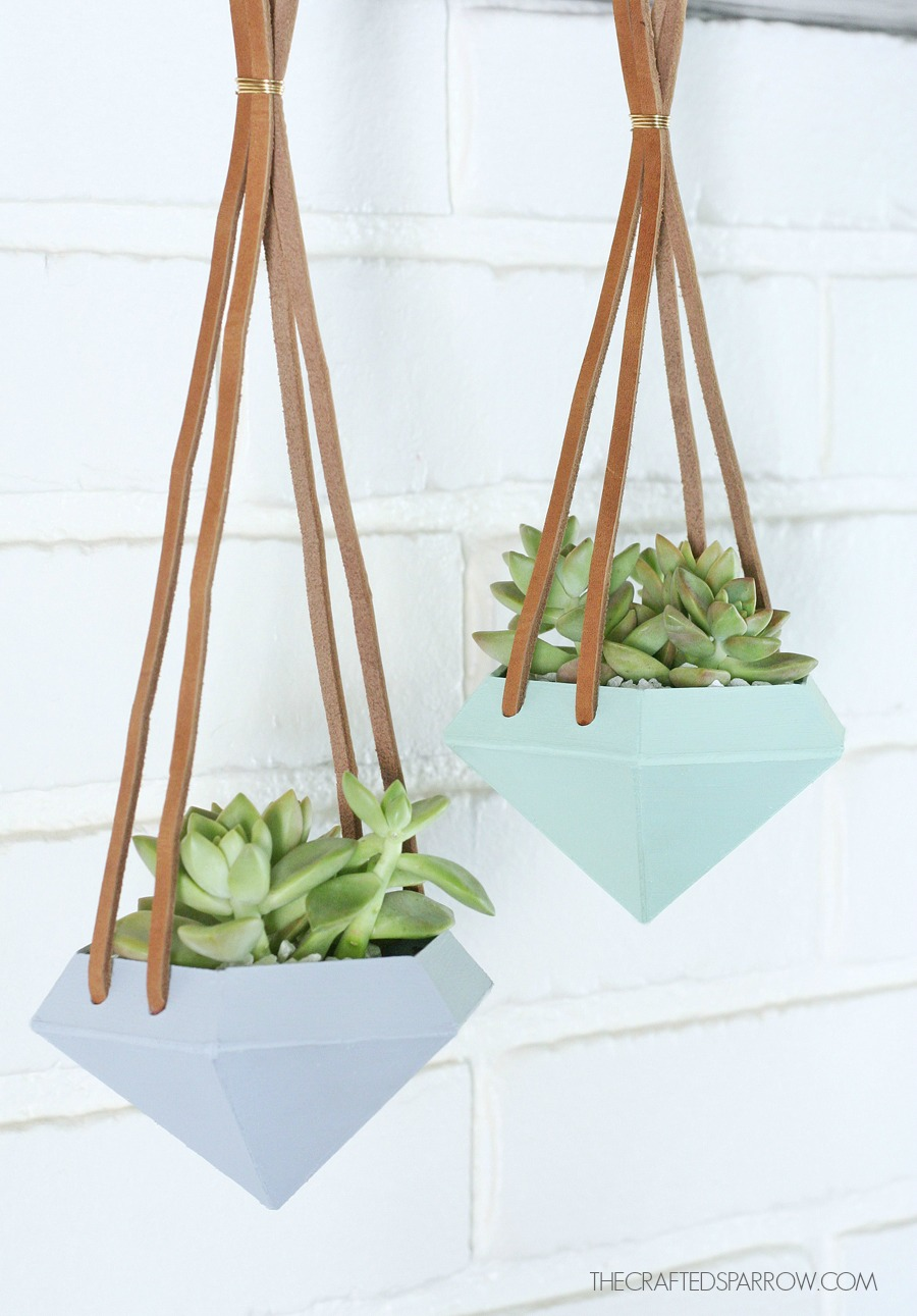 Diamond Shaped Hanging Planters