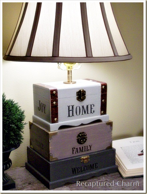 Dollar Store Craft Box Lamp