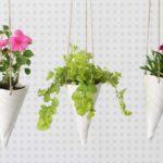 Ice Cream Cone Hanging Planters