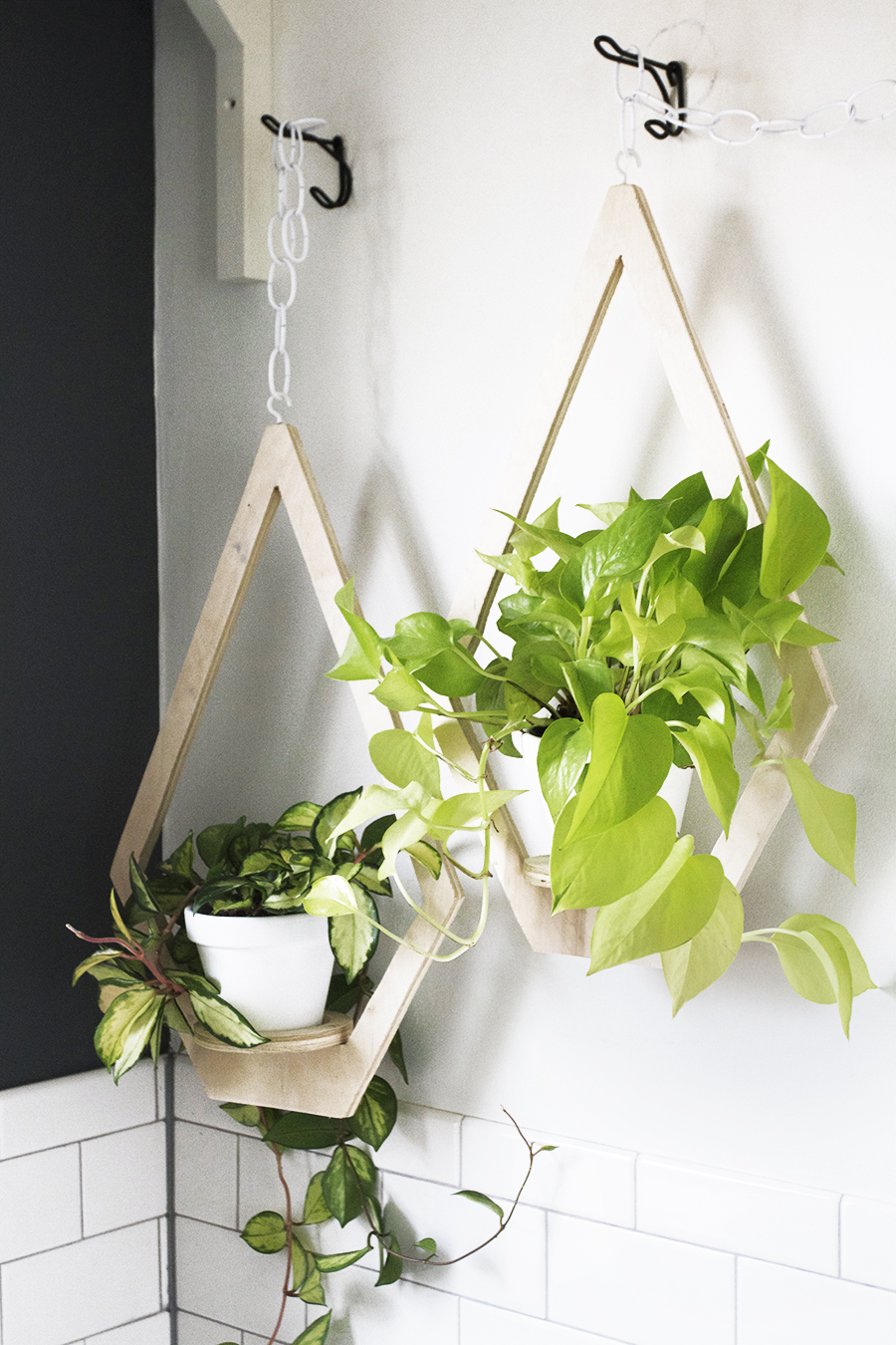 Plywood Hanging Planter