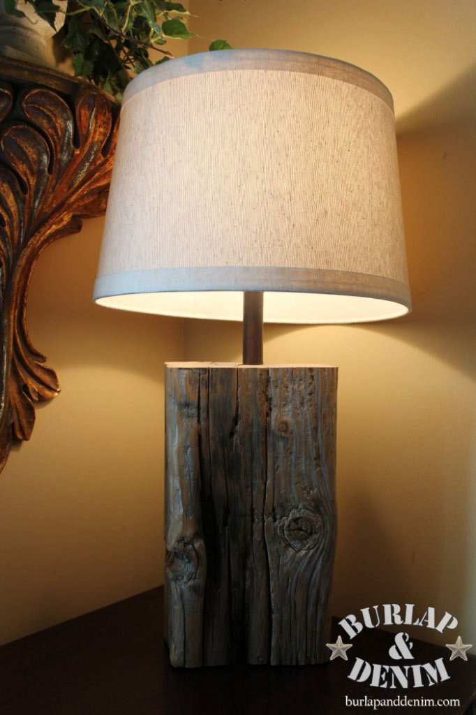 Salvaged Wood Lamp