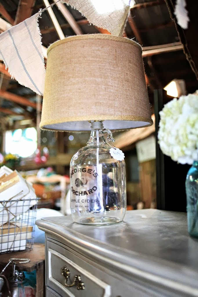 Vintage Bottle Lamp