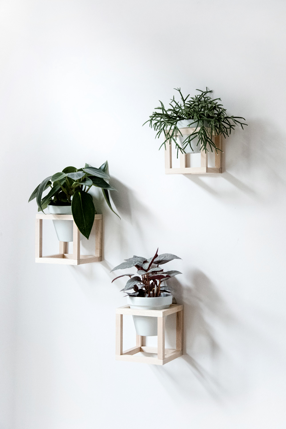 Wooden Hanging Wall Planters