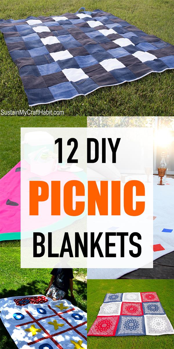 12 Easy DIY Picnic Blankets