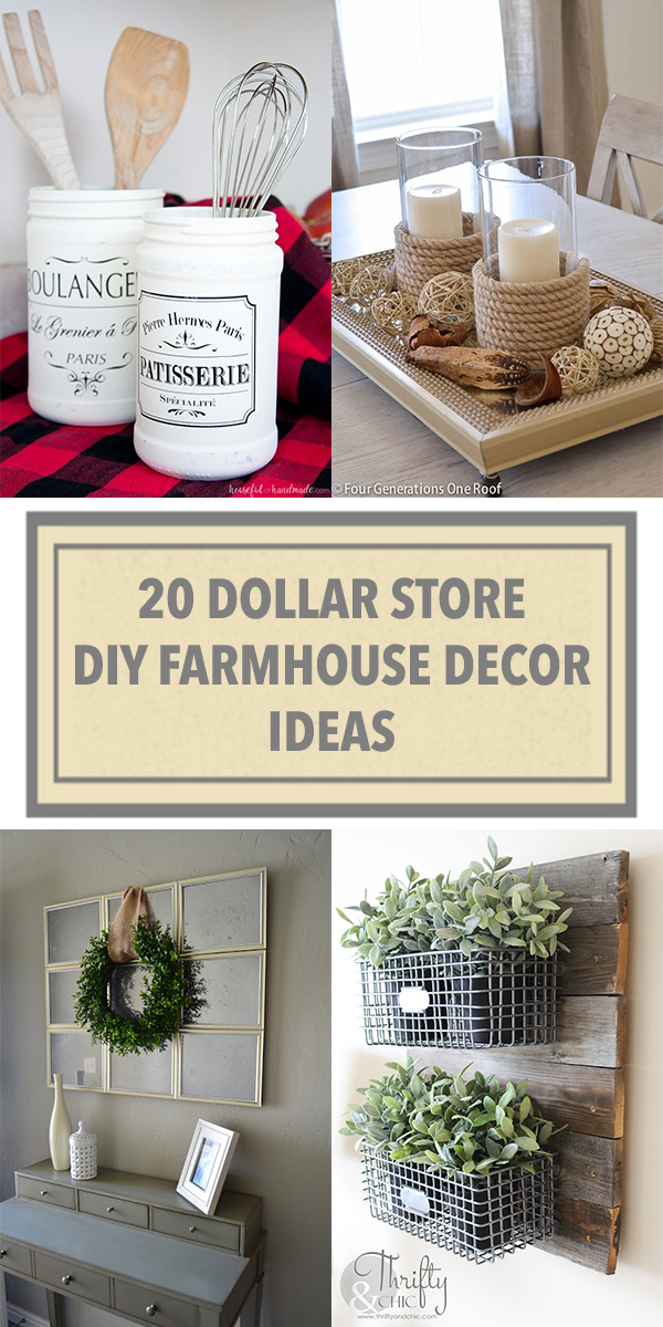 20 Dollar Store DIY Farmhouse Decor Ideas