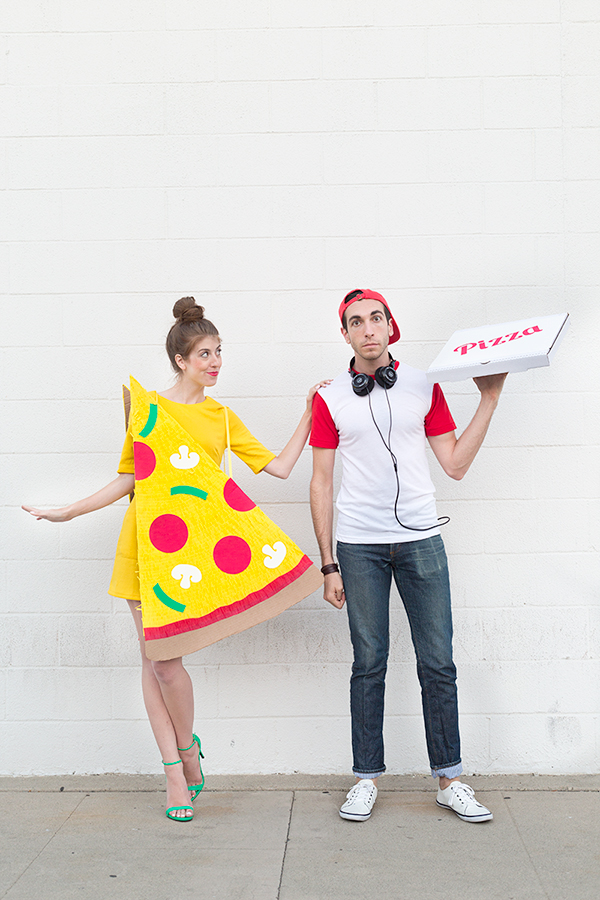 Pizza Slice + Delivery Boy Couples Halloween Costume