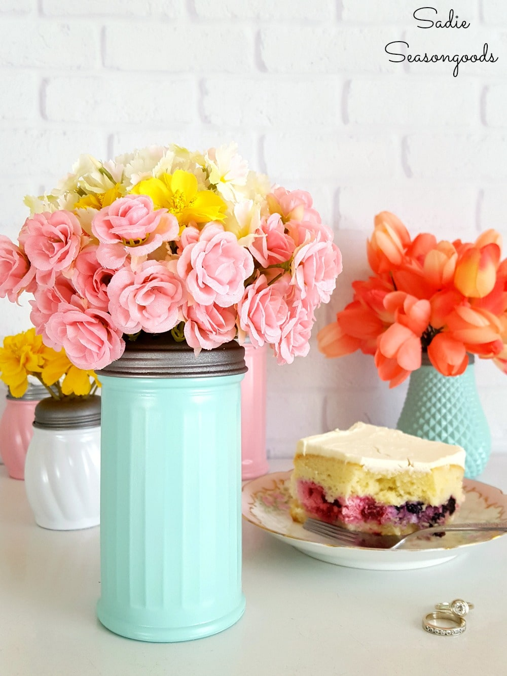Sugar & Cheese Shaker Flower Vases