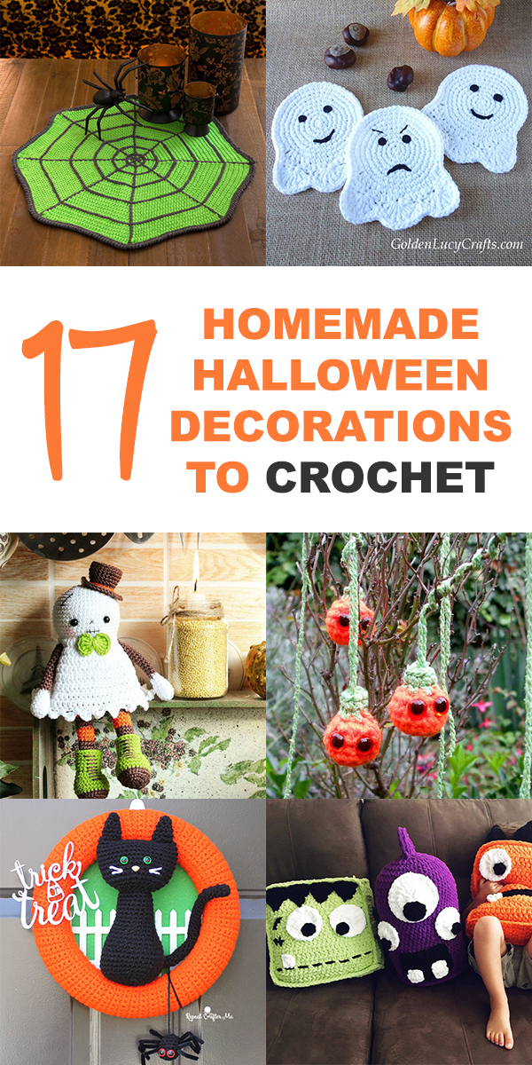 17 Homemade Halloween Decorations to Crochet