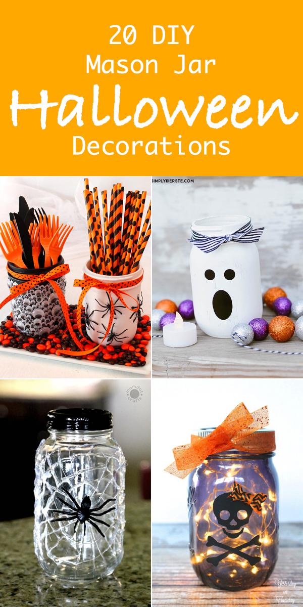 20 DIY Mason Jar Halloween Decorations