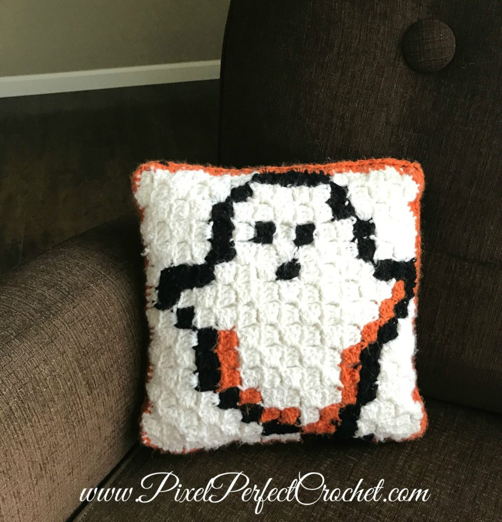 Boo-tiful Crochet Halloween Pillow
