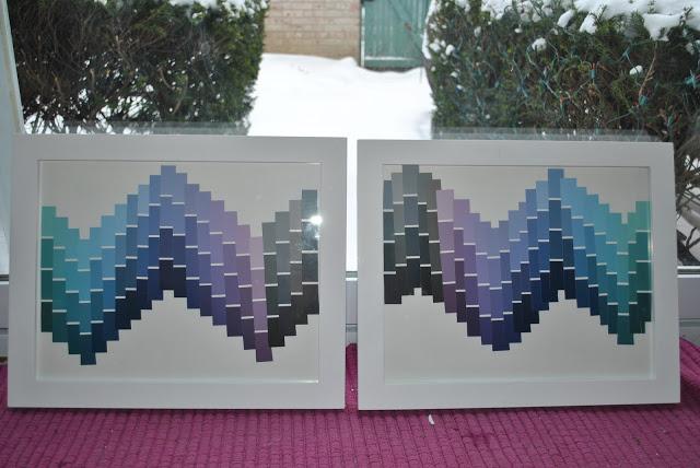Chevron Paint Chip Art