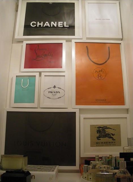 Designer Shopping Bag Wall Art
