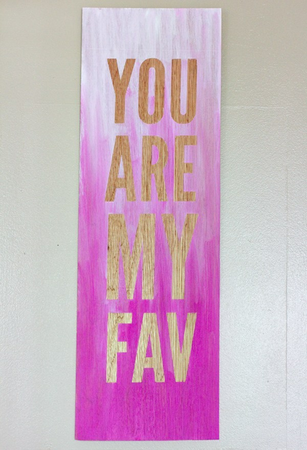 Ombre Quote Wall Art