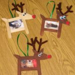 Reindeer Photo Frame Ornaments