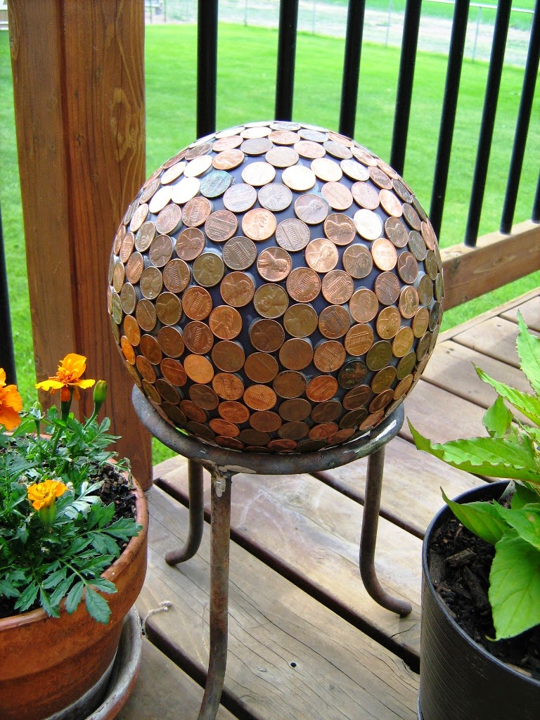 Penny Ball Garden Sphere