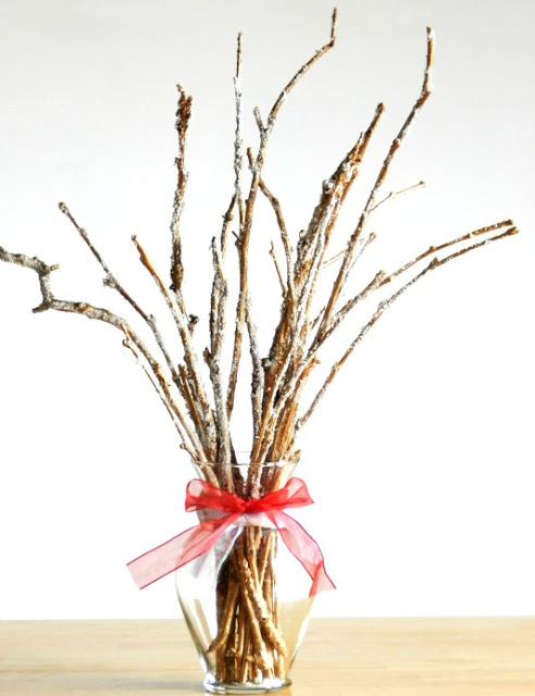 Frosted Twig Holiday Bouquet