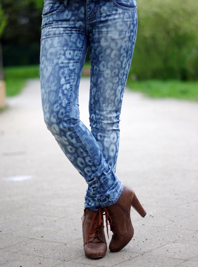 Animal Pattern Jeans