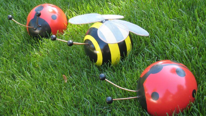 Bowling Ball Bumblebee and Ladybug