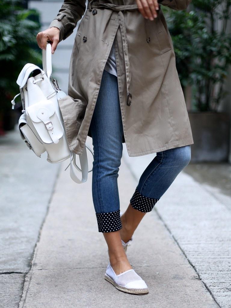 Fabric Cuff Jeans