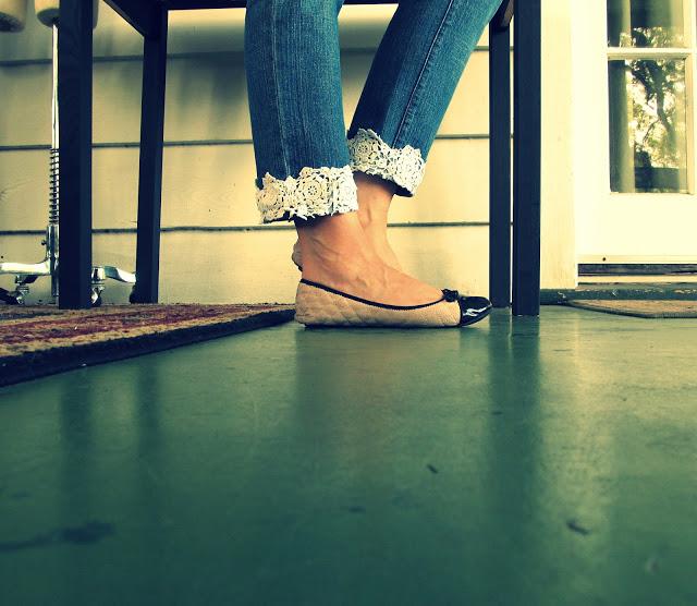 Lace Cuff Jeans