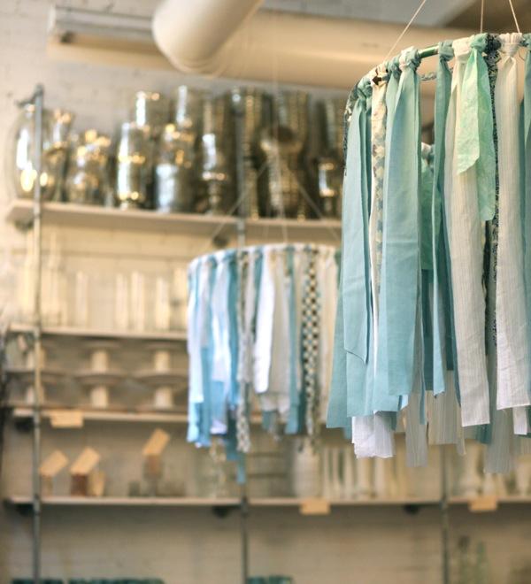 Hanging Fabric Ribbon Hoop