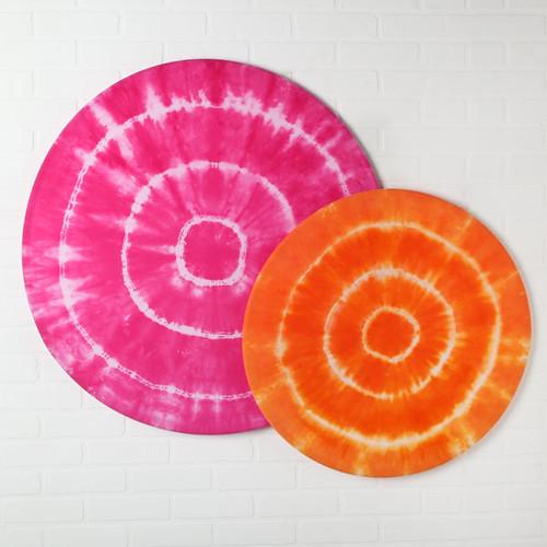 Tie Dyed Hula Hoop Wall Art