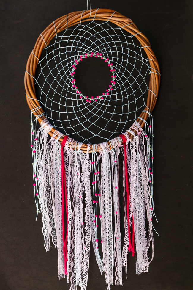 Dreamcatcher with Vine and Lace