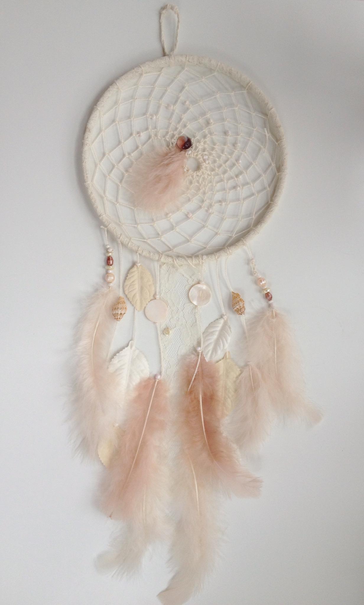 Pink Feather Dreamcatcher