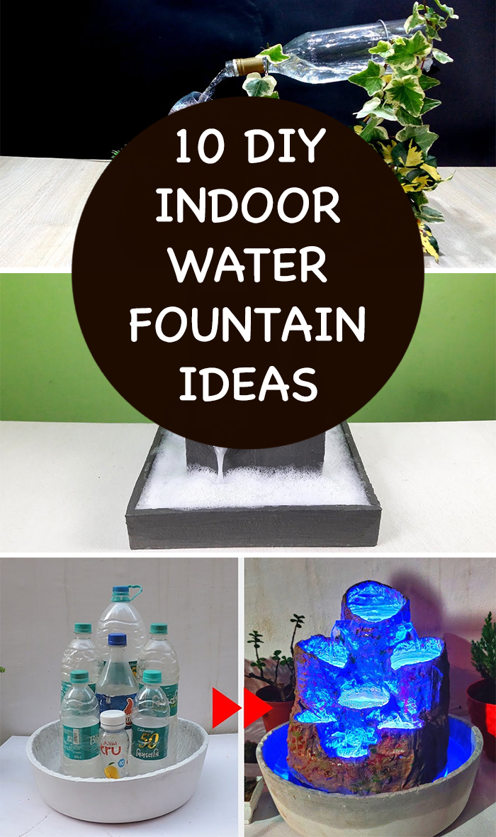 10 Awesome DIY Indoor Water Fountain Ideas
