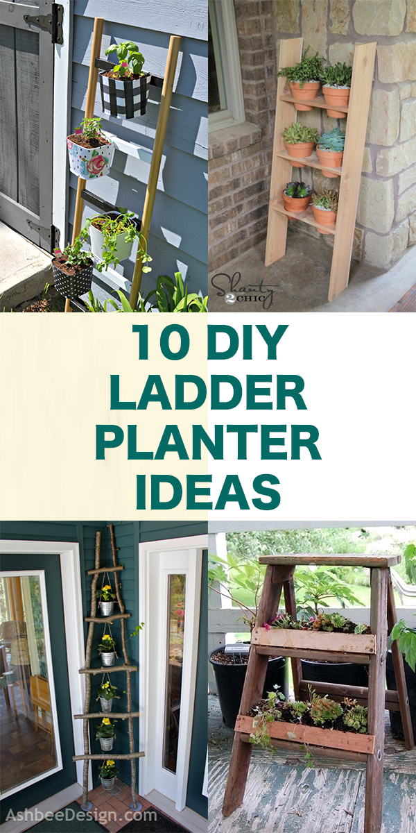 10 Great DIY Ladder Planter Ideas