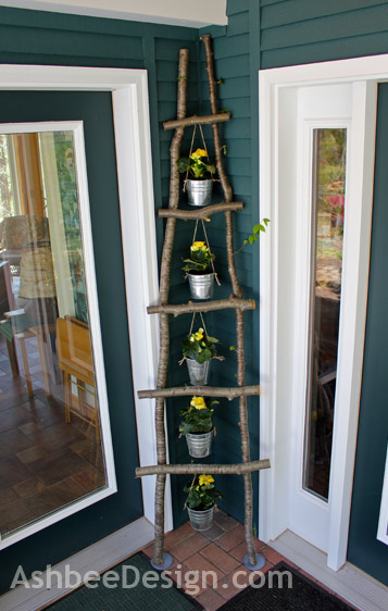 Ladder Made from Branches