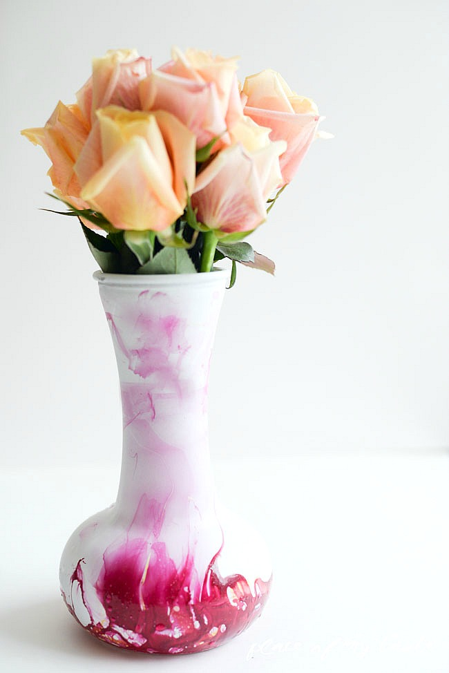Marble Dipped Vase