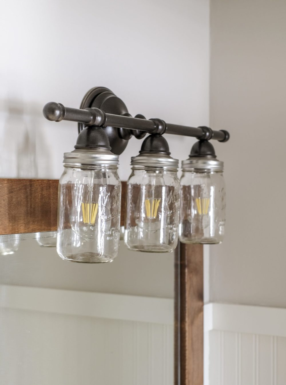 Mason Jar Bathroom Vanity Light
