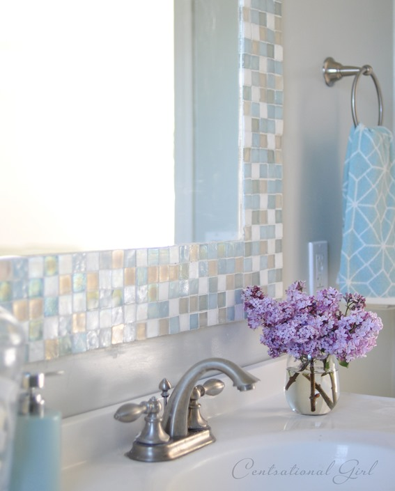 Mosaic Tile Bathroom Mirror