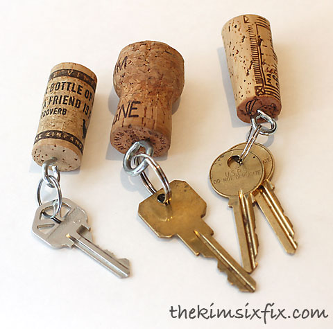keychain out of a wine cork